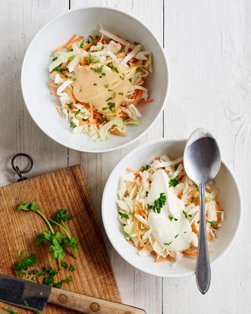 Vegemajoneesi ja coleslaw
