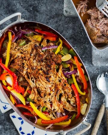 Pulled pork ja kasvikset à la Tuorekset
