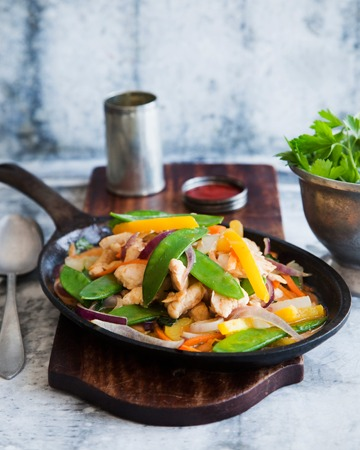 Punainen kana-mangocurry à la Tuorekset