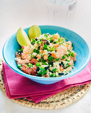Kirjolohi-herne -cous cous