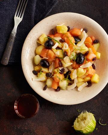 Hunaja-lime hedelmäsalaatti