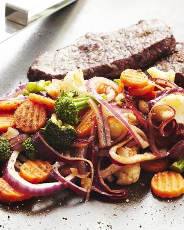 BBQ-kasvikset grillipihvin tai broilerin kera