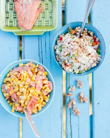 Pariloitu kirjolohi ja maissi-graavilohilisuke